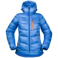 BergansWs Memurutind Down Jacket Light Winter Sky/Athens Blue/Pumpkin XS Vinterjackor & Parkas