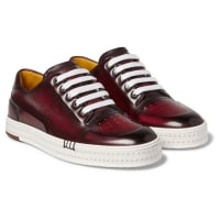 BerlutiPlaytime Polished-leather Sneakers - Brown