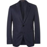 BerlutiBlue Stretch-cotton Blazer - Blue