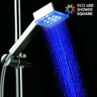 BigbuyBulbo Doccia Luminoso Squared Eco Led 230 Gr