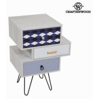 BigbuyRetro Table With Three Drawers