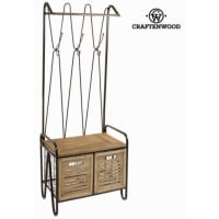 BigbuyTwo Drawers Cabinet By Craften Wood 175 Kg