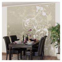 BilderweltenVliestapete Quadrat »Perlmutt Ornament Design«, natur, 192x192 cm, Naturfarben