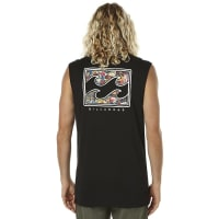 BillabongSticker Wave Mens Muscle Black