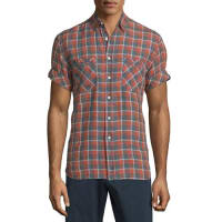 Billy ReidDonelson Plaid Short-Sleeve Shirt, Multi