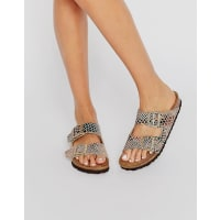 BirkenstockArizona Shiny Snake Print Narrow Fit Flat Sandals - Multi