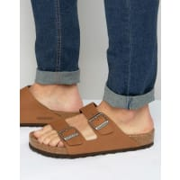 Birkenstocks Arizona Nubuck Sandals - Tan