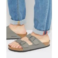 Birkenstocks Arizona Nubuck Sandals - Grey