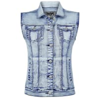 Black Premium by EMPDenim Vest Girl-Weste blau