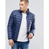 BlendQuilted Nylon Jacket in Navy - Navy