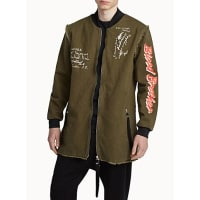 Blood BrotherBeware long bomber jacket