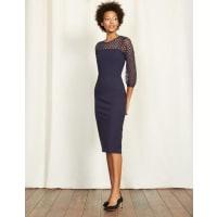 BodenElectra Kleid aus Ponte-Roma-Jersey Navy Damen Boden