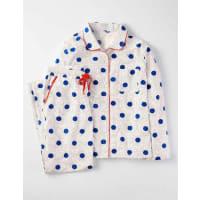 BodenGemütlicher gewebter Schlafanzug Blau Damen Boden
