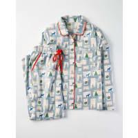 BodenGemütlicher gewebter Schlafanzug Grau Damen Boden