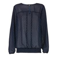 BodyflirtDames blouse lange mouw in blauw - BODYFLIRT
