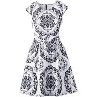 BODYFLIRT boutiqueDames jurk korte mouw in wit - BODYFLIRT boutique