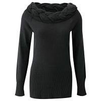 BODYFLIRT boutiquePullover in schwarz von bonprix