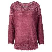 BodyflirtFlauschiger Pullover mit Spitze in rot von bonprix