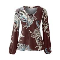 BodyflirtTunika-Shirt langarm in braun von bonprix