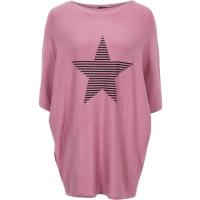 BodyflirtPullover mit Fledermausärmeln in rosa von bonprix