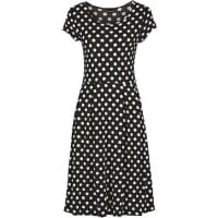 BodyflirtShirtkleid/Sommerkleid kurzer Arm in schwarz (Rundhals) von bonprix