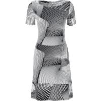 BodyflirtShirtkleid/Sommerkleid 3/4 Arm in weiß (U-Boot-Ausschnitt) von bonprix