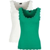 BodyflirtDames top (set van 2) zonder mouwen in groen - BODYFLIRT