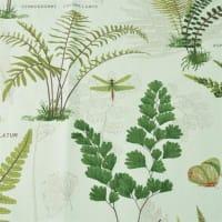 Boel & JanBimba stoff hvit med grønne blad
