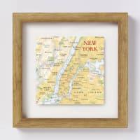 BombusNew York City Map Location Square Print