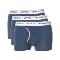 BondsGuy Front Trunk 3 Pack Mens Underwear Blue