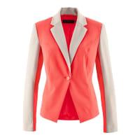 BonprixBlazer bicolor vermelho manga longa com decote V