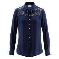 BonprixDames blouse lange mouw in blauw - bpc selection