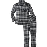 BonprixFlanell Pyjama in lockerer Passform langarm in schwarz von bonprix