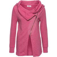 John Baner JeanswearDames sweatvest lange mouw in pink - John Baner JEANSWEAR