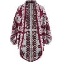 BonprixPoncho in maglia jacquard Premium (rosso) - bonprix