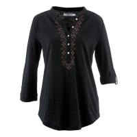 BonprixDames shirt 3/4-mouw in zwart - bpc bonprix collection