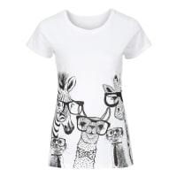 BonprixDames shirt korte mouw in wit - RAINBOW
