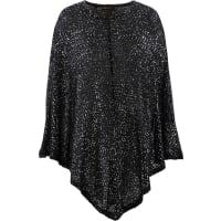 BonprixPoncho in maglia con paillettes (nero) - bpc selection