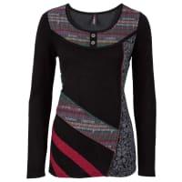 BonprixDames trui lange mouw in zwart - RAINBOW