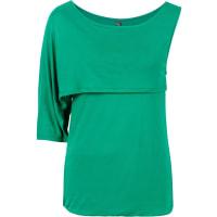 BonprixDames one-shoulder-shirt halve mouw in groen - RAINBOW