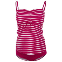 BoobFAST FOOD Maillot de bain stripe magenta pink/offwhite