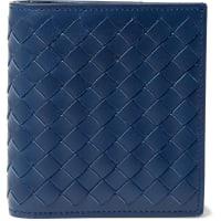 Bottega VenetaIntrecciato Leather Billfold Wallet - Blue