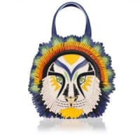 BraccialiniTEMI TRIBAL LION Leather Handbag Frühling/Sommer