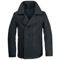 BranditPea Coat Jacke schwarz