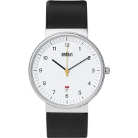 BraunBn0032 Stainless Steel And Leather Watch - Black