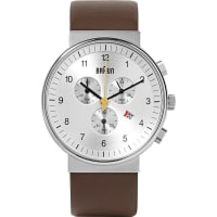 BraunBn0035 Stainless Steel And Leather Watch - Silver