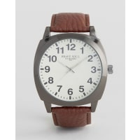 Brave SoulBrown Watch with White Full Figured Dial - Brown