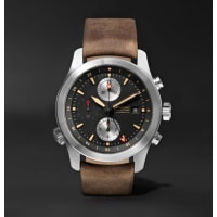 BremontAlt1-zt/51 Stainless Steel And Leather Chronograph Watch - Brown