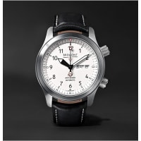 BremontMartin Baker Ii Stainless Steel And Leather Watch - White