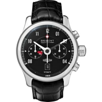 BremontMkii Jaguar Stainless Steel And Alligator Watch - Black